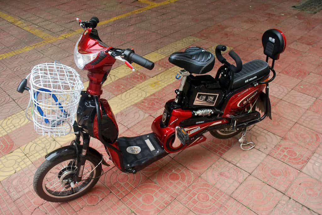 Moped with pedals