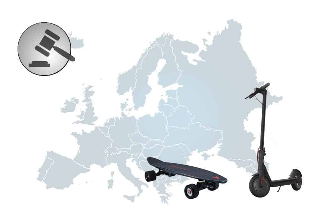 Electric Scooter and Skateboard Laws (All European Countries)