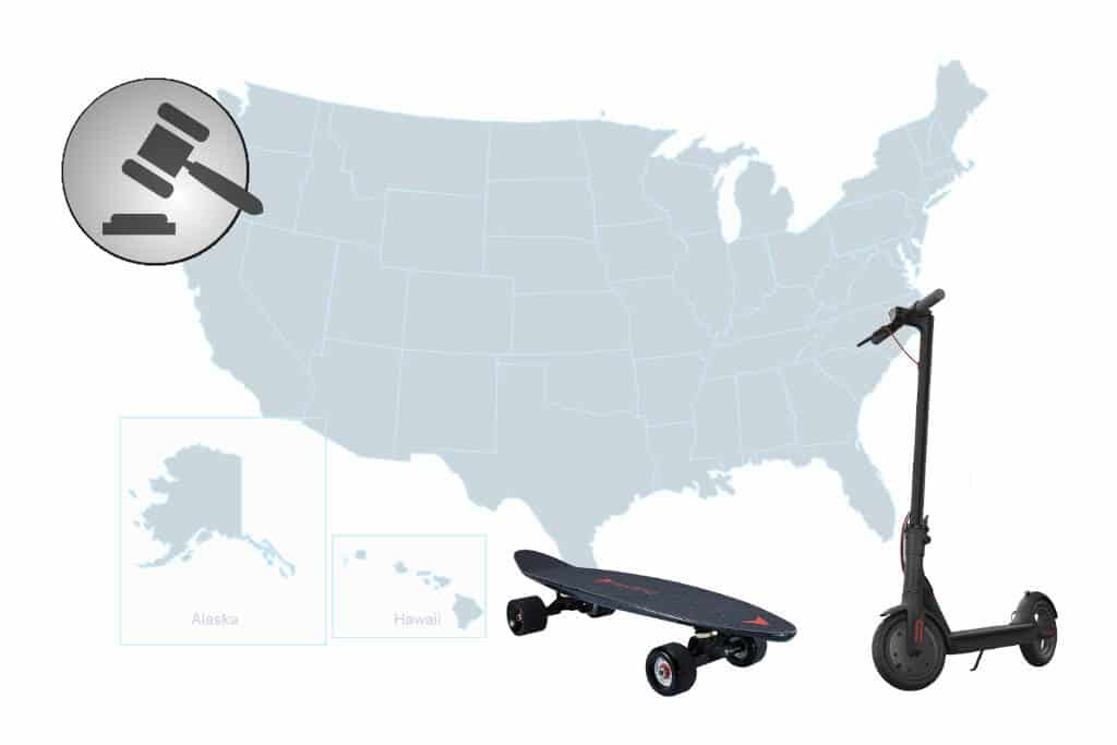 Electric Scooter and Skateboard Laws (All U.S. States)